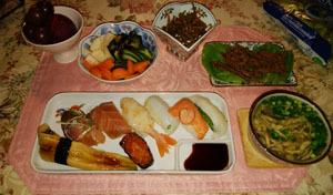 907 バタバタデーの晩御飯