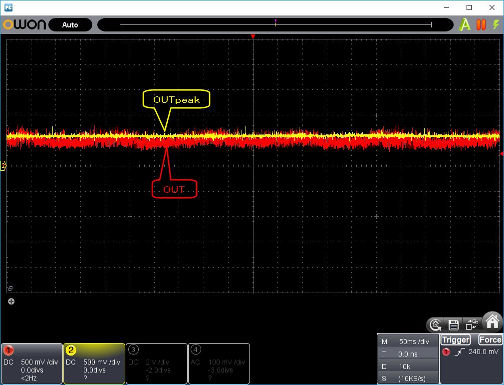 27MHz~2400MHzRFチェッカー整流波形1
