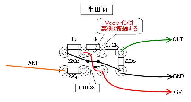 27MHz~2400MHzRFチェッカー配線図