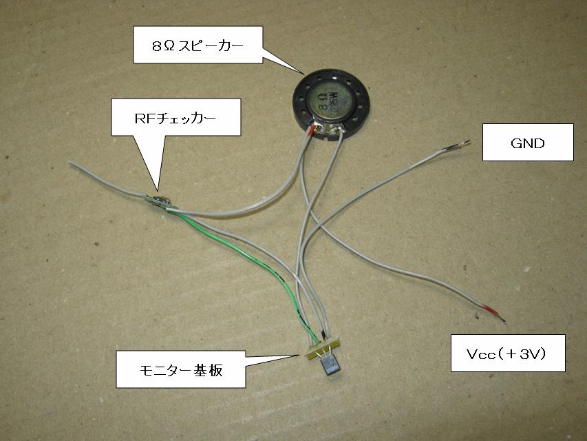 RFチェッカー(電波モニター)モニター部全体画像