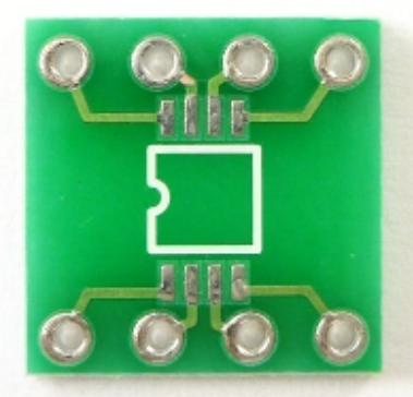 27MHz~2400MHzRFチェッカー(AD8314)ピッチ変換基板