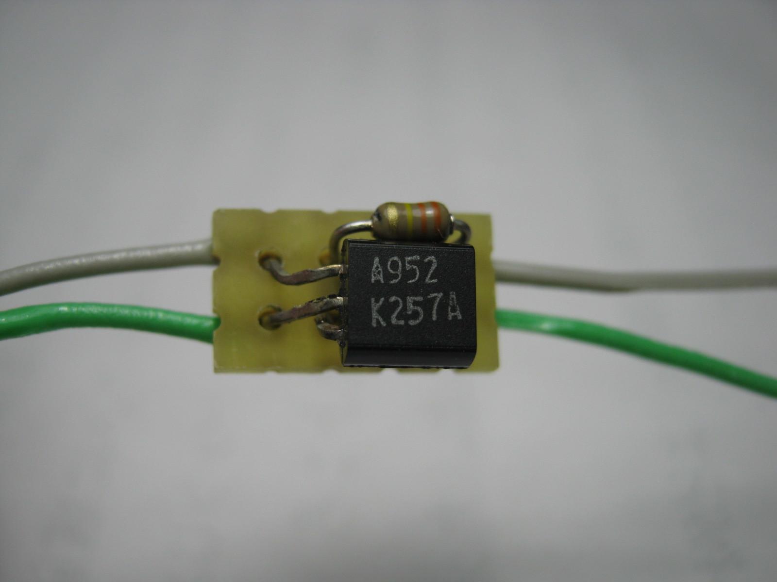 27MHz~2400MHzRFチェッカー(AD8314用モニター)チップ基板表