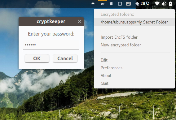 Cryptkeeper Ubuntu フォルダ 暗号化 パスワード