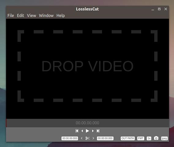 LosslessCut Ubuntu 動画編集 無劣化 カット 動画ファイルの選択