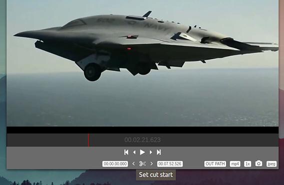 LosslessCut Ubuntu 動画編集 無劣化 カット 開始位置の選択