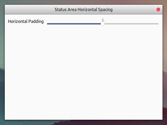 Status Area Horizontal Spacing Ubuntu GNOME拡張機能 トップバー アイコン間隔 オプション
