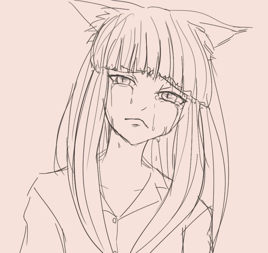 サラ泣き顔