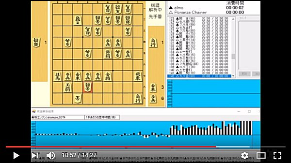 02-elmo vs Ponanza Chainer 第27回世界コンピュータ将棋選手権 - YouTube