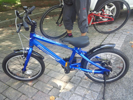 おニュー自転車
