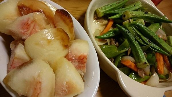 桃と夏野菜