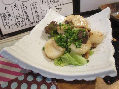 ホタテと長芋醤油焼き
