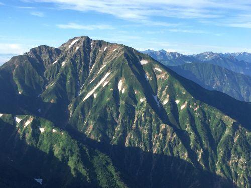 五竜岳と槍穂