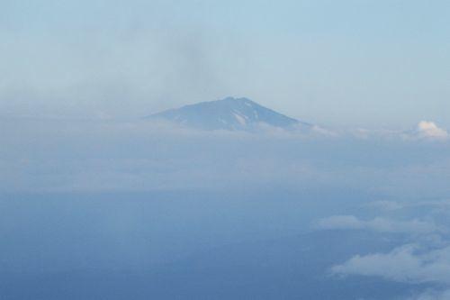 鳥海山が見えた