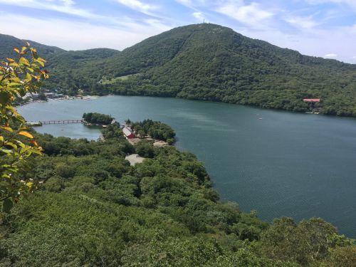 大沼と地蔵岳