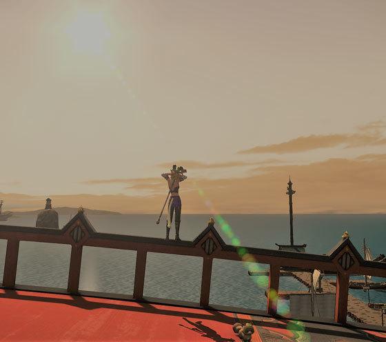 黄昏橋の夕日