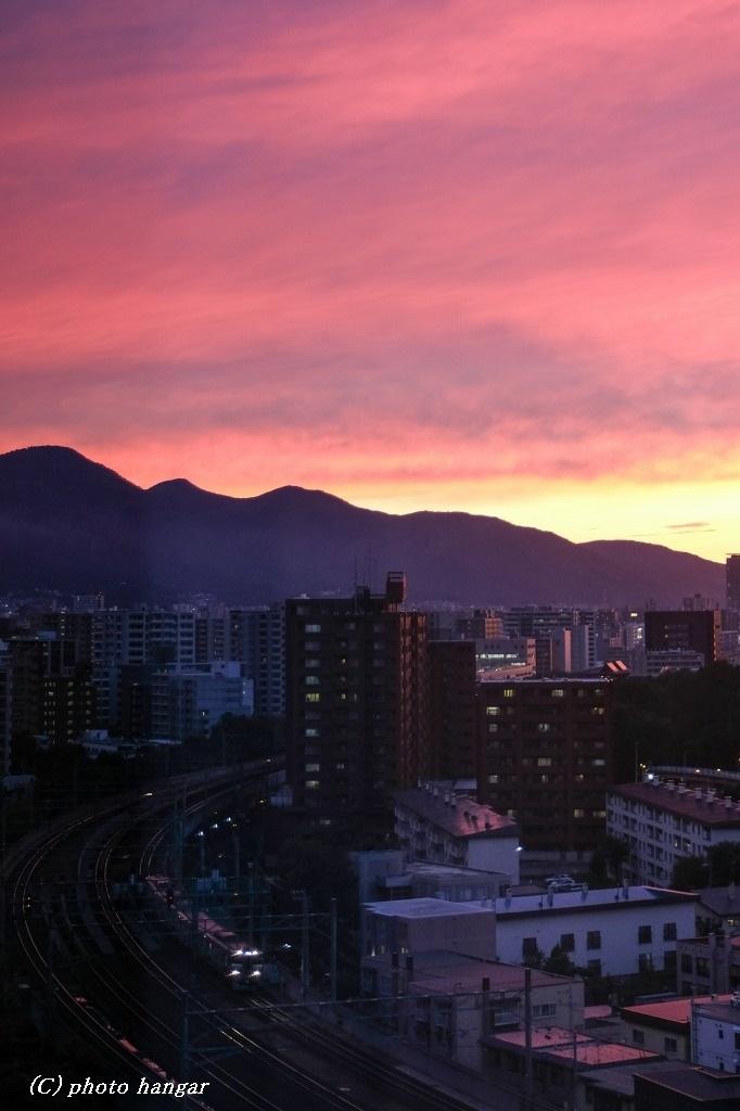 北海道の夕焼