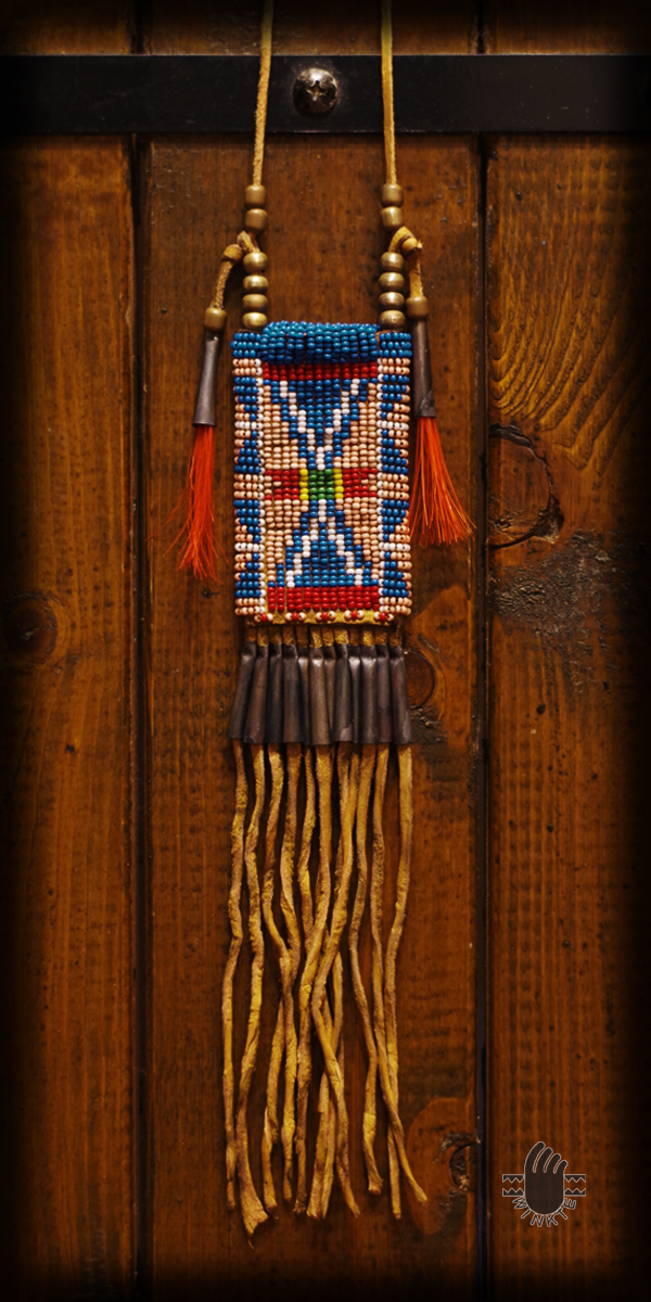 Beaded Tiny Medicine Pouch 01