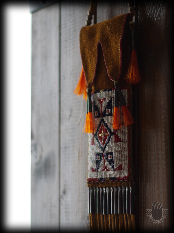 Beaded Buffalo Pouch 3