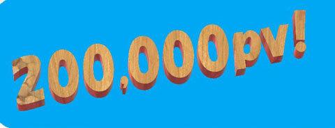 20万PV達成2