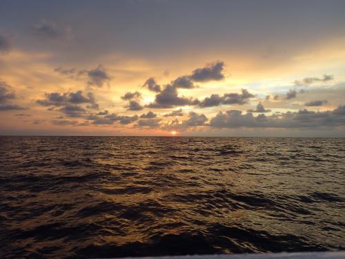 夏の終わりの夕陽