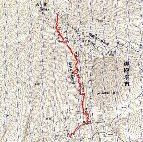 170825 富士山軌跡