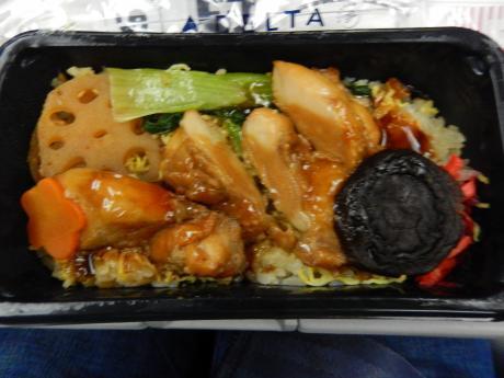 シンガポール2017.1デルタ航空便・機内食