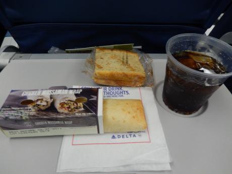 シンガポール2017.1デルタ航空成田行き・機内食