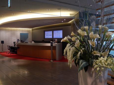 シンガポール2017.3成田空港デルタスカイクラブ