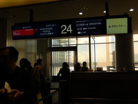 シンガポール2017.3デルタ航空