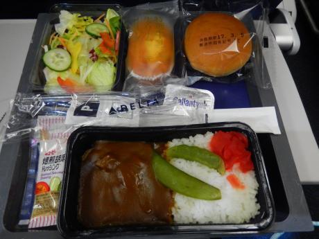 シンガポール2017.3デルタ航空・機内食