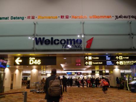 シンガポール2017.3シンガポールチャンギ空港