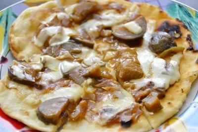 手作りカレーピザ