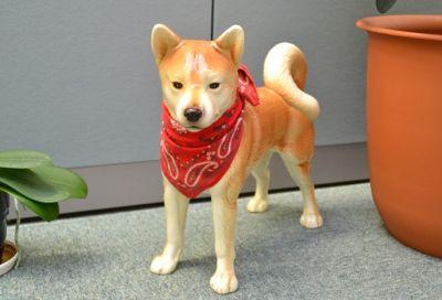 瀬戸物のビミョーにリアルな犬