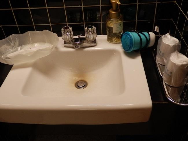 湯快リゾート片山津温泉 部屋 洗面台