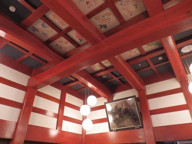 北原荘 ロビー天井