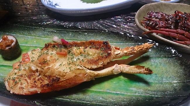 浜膳旅館 夕食料理 伊勢海老の黄金焼き