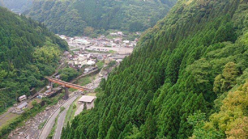 青雲橋からの眺望