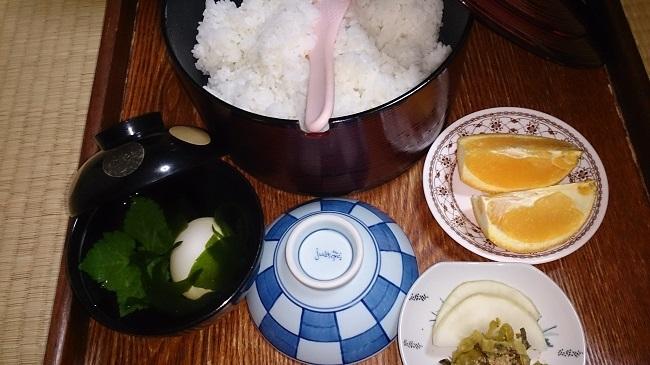 夕食料理 ご飯とデザート