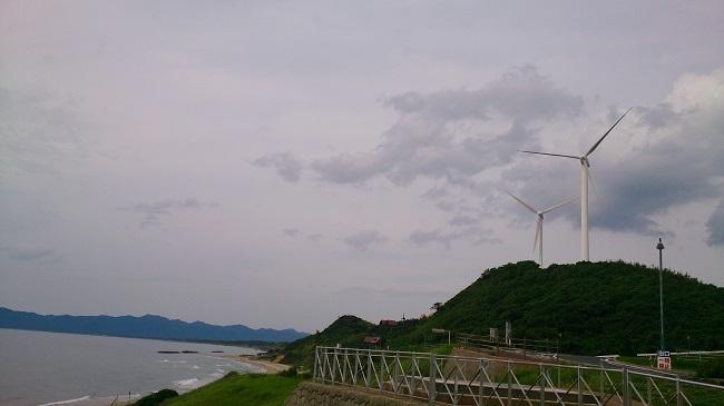 日本海沿い、出雲を過ぎて