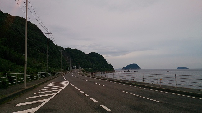 日本海沿い、益田から国道191号線