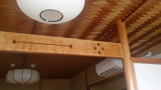 金波荘 和室 天井