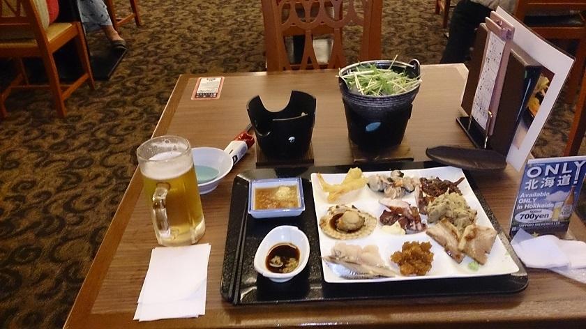 知床プリンスホテル バイキング 夕食