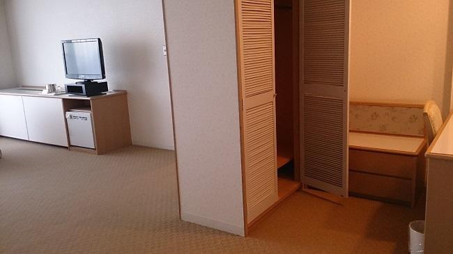 城島高原ホテル 和洋室 クローゼット