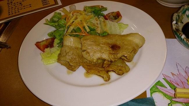 夕食 豚の生姜焼き