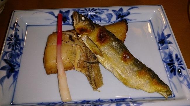 夕食 焼魚