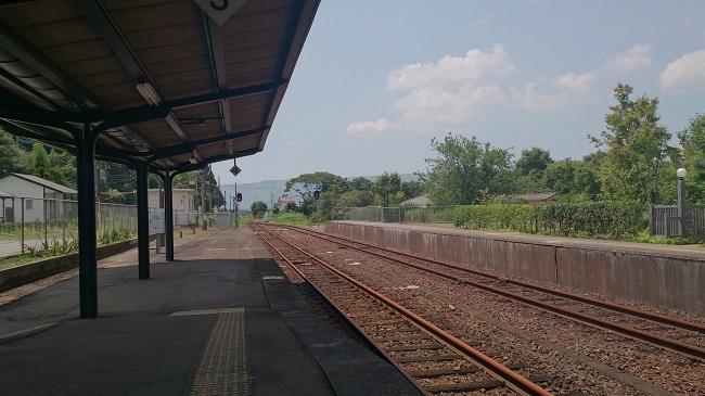 JR阿蘇駅ホーム