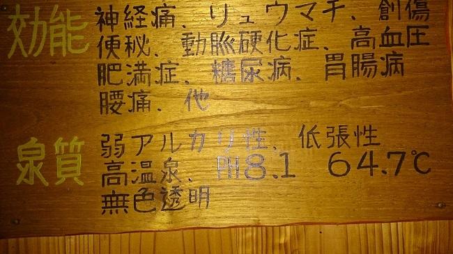 彩の庄 温泉表示