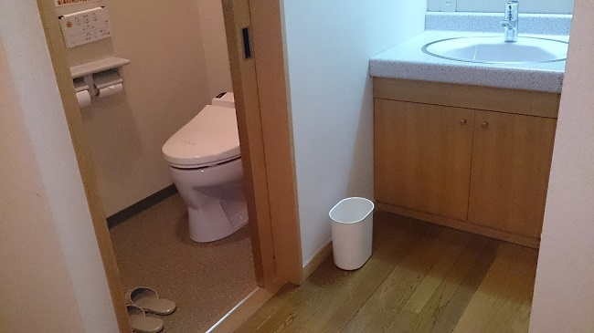 パンケの湯 洗面台、トイレ
