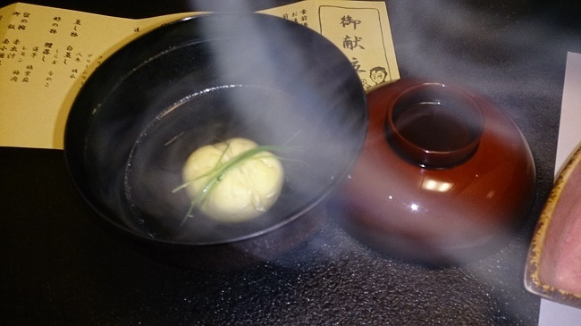 夢龍胆 夕食料理 すっぽんの吸物