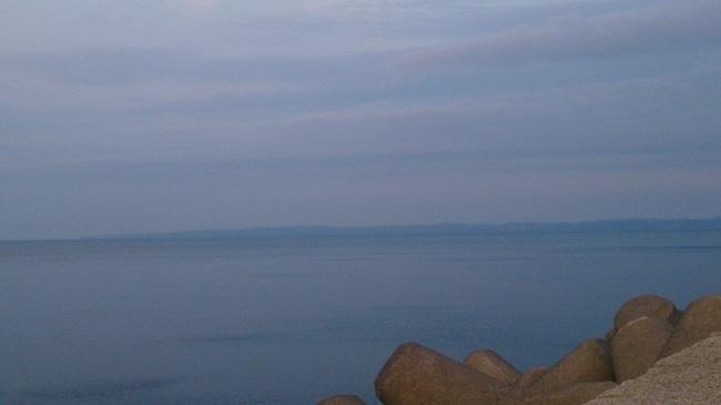 稚内港北防波堤ドーム 樺太を望む